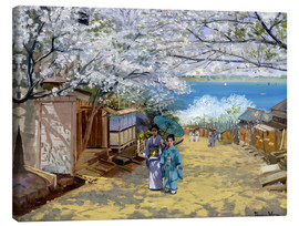 Tableau sur toile  Cherryblooms in sunshine - Theodore Wores