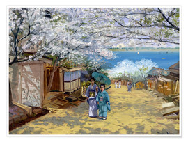 Poster  Cherryblooms in sunshine - Theodore Wores