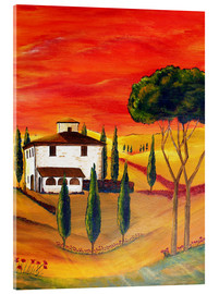 Tableau en verre acrylique  Warmth of Tuscany - Christine Huwer