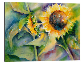 Tableau en aluminium  Sunflower - Jitka Krause