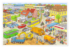 Poster  Cars search and find: In the City - Stefan Seidel