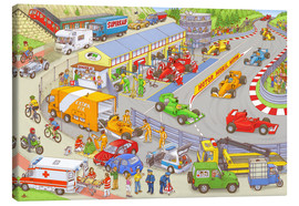 Toile  Cars search and find picture: race track - Stefan Seidel