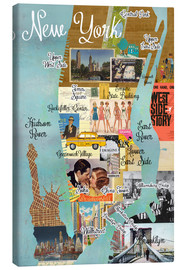 Tableau sur toile  Collage New York - GreenNest