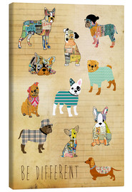 Tableau sur toile  Be different, chiens - GreenNest