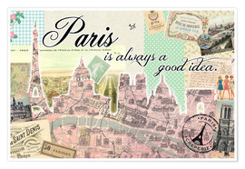 Poster  Paris is always a good idea - GreenNest