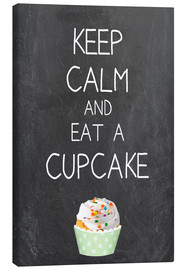 Tableau sur toile  Keep calm and eat a cupcake - GreenNest