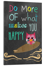 Verre acrylique  Do more of what makes you happy - GreenNest