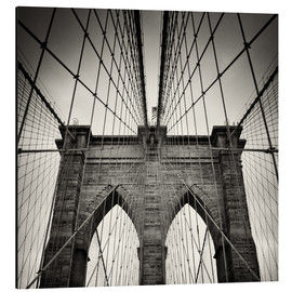 Alu-Dibond  New York City - Pont de Brooklyn (argentique) - Alexander Voss