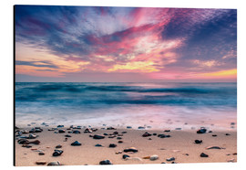 Tableau en aluminium  beach and purple sunset - Sascha Kilmer