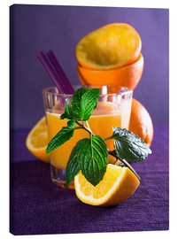 Toile  Orange juice in a glass - Edith Albuschat