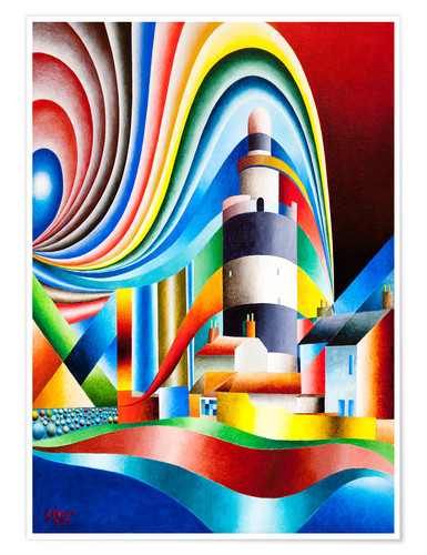 Poster lighthouse hooks head I