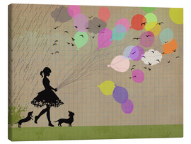 Toile  girl with balloons - Elisandra Sevenstar