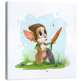 Toile  Mouse fox with bee Fairy-tale illustration gift idea nursery - Alexandra Knickel