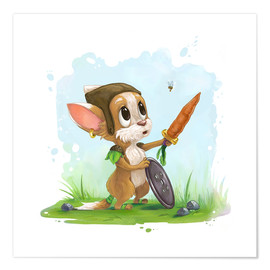 Alexandra Knickel - Mouse fox with bee Fairy-tale illustration gift idea nursery