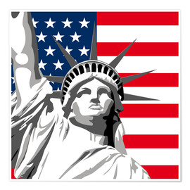 Poster  statue of liberty - coico