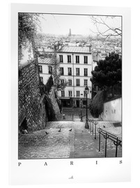Verre acrylique  Paris - Montmartre - ARTSHOT - Photographic Art