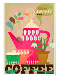 Poster  the smell of coffee - Elisandra Sevenstar