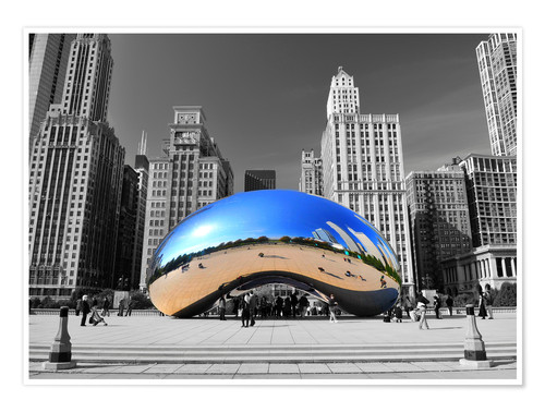 Poster Cloud Gate (Anish Kapoor)