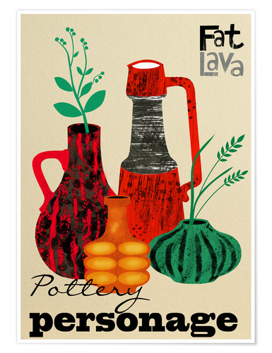 Poster Pottery Personage