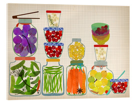 Tableau en verre acrylique  Bottled pickles and fruits - Elisandra Sevenstar