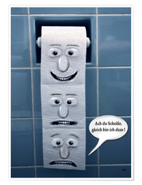Poster  On the Toilet - funny - teddynash