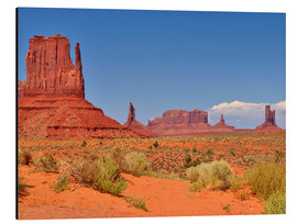 Tableau en aluminium  Monument Valley I - Melanie Viola