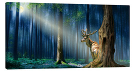 Toile  The Deer In The Mystical Forest - Monika Jüngling