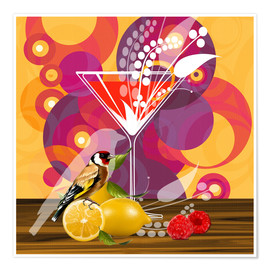 Poster  Vintage Birdy Cocktail I - Mandy Reinmuth