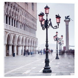 Verre acrylique  St. Mark's Square in Venice in Winter - Jan Christopher Becke