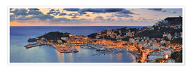 Poster  Port Soller Mallorca at night - Fine Art Images