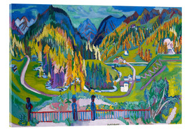 Verre acrylique  Sertigtal in autumn - Ernst Ludwig Kirchner