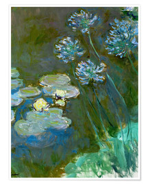 Claude Monet - Nympheas et Agapanthes (Waterlillies a. Agapanthus)