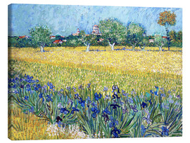 Toile  Arles with Irises flowers in the foreground - Vincent van Gogh