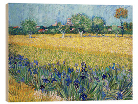 Bois  Arles with Irises flowers in the foreground - Vincent van Gogh
