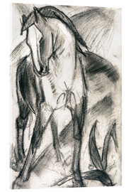 Verre acrylique  Young Horse in Mountain Landscape - Franz Marc