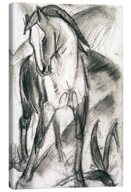 Toile  Young Horse in Mountain Landscape - Franz Marc