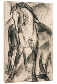 Bois  Young Horse in Mountain Landscape - Franz Marc