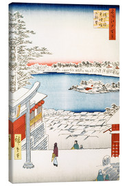 Tableau sur toile  View from the hill of the shrine Yushima Tenjin - Utagawa Hiroshige