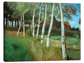Tableau sur toile  Birches in the marsh - Otto Modersohn