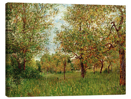 Tableau sur toile  Small Meadow in By - Alfred Sisley