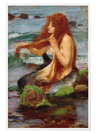 Poster  Une sirène - John William Waterhouse