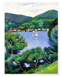 Poster  Vue sur le Tegernsee - August Macke