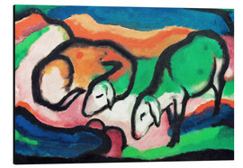 Tableau en aluminium  Sheep - Franz Marc