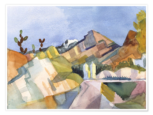 Poster Paysage rocheux