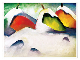 Poster  Hocken in the Snow - Franz Marc