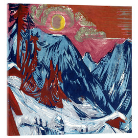 Verre acrylique  Winter Moonlit Night - Ernst Ludwig Kirchner