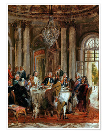 Poster King Frederick II. Guests at Sanssouci