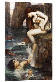 Tableau en PVC  La Sirène - John William Waterhouse