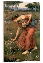 Tableau en bois  Narcisse - John William Waterhouse