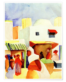 Poster  Marché à Tunis I - August Macke